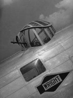 A Flier Aiming the .30 Caliber Machine Gun in the B 18A Bomber Plane Premium Photographic Print by Carl Mydans