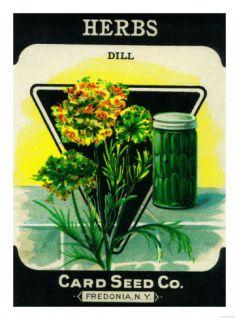 Herbs Seed Packet Prints