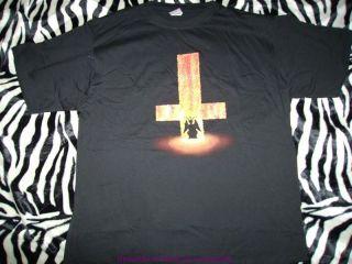 BURNING CROSS Shirt umgedrehtes Kreuz BLACK METAL SATAN