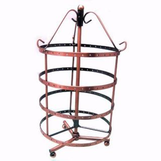 144 Holes Rotating Earrings Jewelry Display Stand showcase RACK Holder