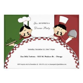 Italian Night Dinner Party Invitation