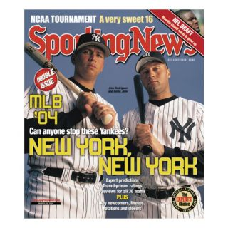New York Yankees Alex Rodriguez and Derek Jeter   March 29, 2004 Prints