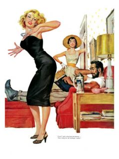No Man for Nancy, Part 1   Saturday Evening Post Leading Ladies, January 7, 1956 pg.32 Giclee Print by Ernest Chiriaka
