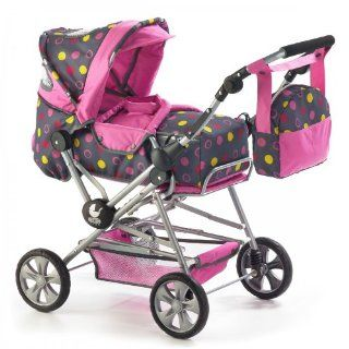 Bayer Chic 2000 Kombi Puppenwagen Road Star Design Funny Pink