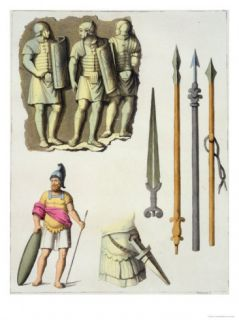 Weapons of Roman Legionaries, Le Costume Ancien et Moderne, c.1820 30