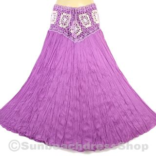 Vintage Bohemian Rock Strand Hippie BOHO Skirt Purple XS XL sk155v