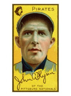 Pittsburgh, PA, Pittsburgh Pirates, John Flynn, Baseball Card Print