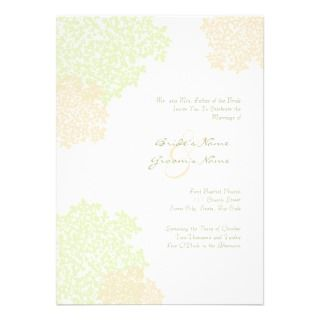Sage & White Queen Annes Lace Wedding Invitation