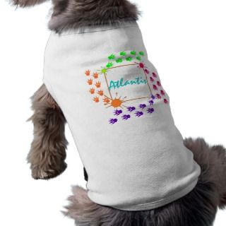 PERSONALIZED PET WARE PAWZ TRACKS IN PAINT PET CLOTHES