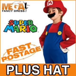Verkleidung Super Mario Bros Jungen Kostüm Kinder Nintendo Spiele S M