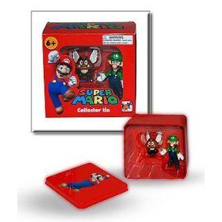 Super Mario Figur Luigi und Gomba in Metallbox Spielzeug
