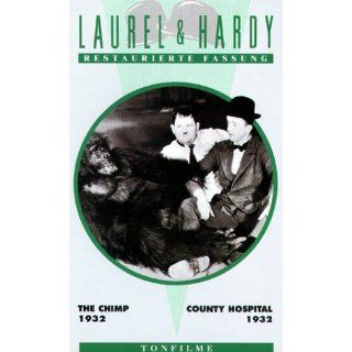 Laurel & Hardy   The Chimp / County Hospital [VHS] Stan Laurel