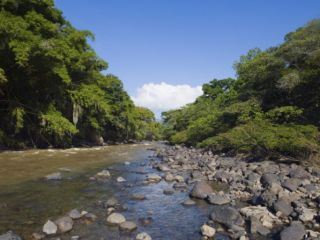 River in El Gallineral Park, San Gil, Colombia, South America Photographic Print by Christian Kober