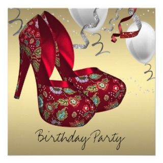 invitations high heel shoes birthday party invitations womans high