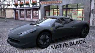 2x Matte Paint Matt Chrome Gold Black Farbe Lack GT5