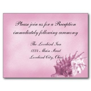 Beach Wedding Reception Postcard (Pink)