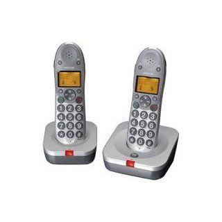 Audioline Big Tel 102 Duo Eco Schnurlostelefon silber