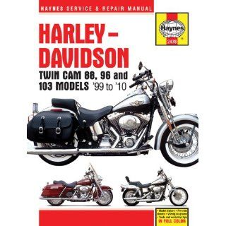 Harley Davidson Twin CAM 88, 96 and 103 Models 99 to 10 (Haynes