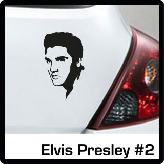 Elvis Presley Autoaufkleber #2 Gr. 3 165x100 mm in schwarz Cartattoo