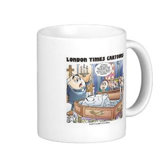 Humpty Dumptys Funeral Funny Cartoon Gifts & Tees Mugs