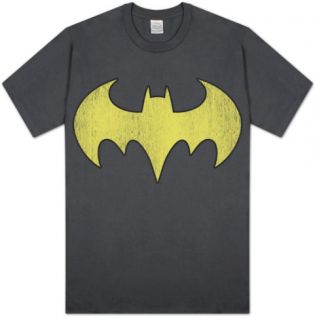 DC Comics   Batgirl   Logo Distressed T shirts