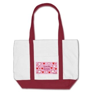 Hearts Love My Massage Therapist Canvas Bags