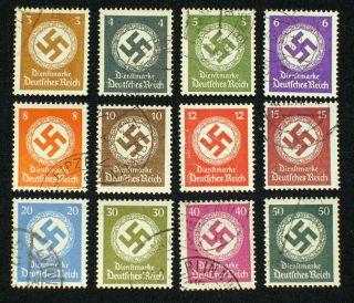 Reich Nr. 166 177 Dienst Hakenkreuz/Swastika gest.