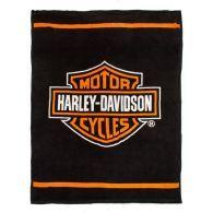 Harley Davidson Microfaser Kuscheldecke Bar & Shield