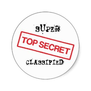 Super top secret classified stickers