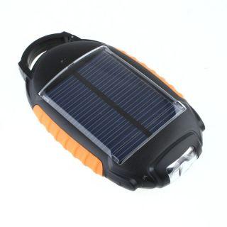 Solar LED Flashlight Camping Lantern Lamp Light SOS Charger for Mobile