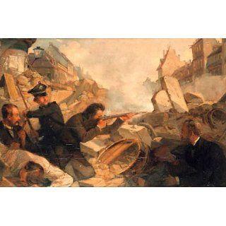 Barrikadenkampf im Mai 1849 108 x 71 Küche & Haushalt