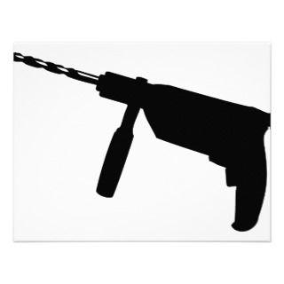 black drill machine icon announcemens