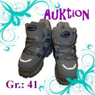 und Herren Schuhe Plateau Schuhe Boots Buffalo Grau Blau 178 Gr 41 Neu