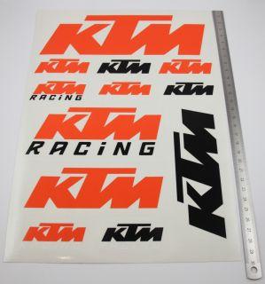 KTM Aufkleber Sticker Set Racing Super Duke EXC Supermoto SMC R Decal