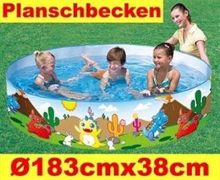 Bestway Kinder Baby Planschbecken Garten Pool Dino Ø184cmx38cm