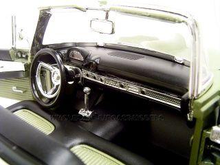 1956 FORD THUNDERBIRD GREEN 118 DIECAST MODEL