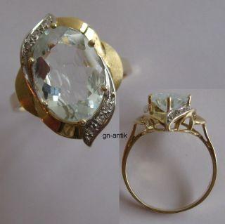 191 Eleganter Ring aus Gold 585 mit Aquamarin und Brillanten Video 396
