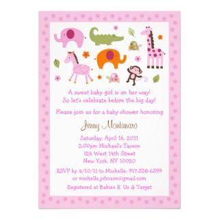 Mod Safari Jungle Animal Baby Shower Invitations invitations by little