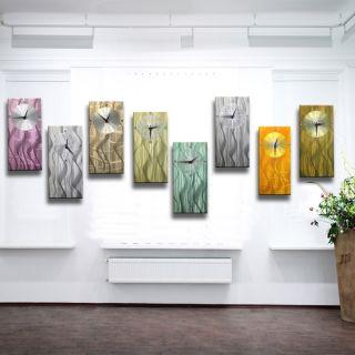 VK 189,00 METAL & ART DESIGN Wall WANDUHR UHR Lila Pink Violett