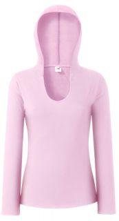 FRUIT OF THE LOOM Damen Langarm Shirt mit Kapuze XS XL