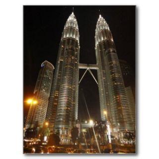Petronas Twin Towers   Kuala Lumpur Malaysia 2 Post Card