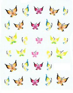 One Stroke Sticker  Pinsel Malerei Tattoo Nail Art #196