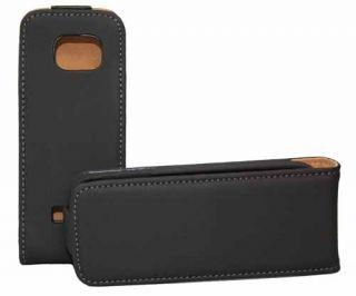 Premium Flip Case für Nokia C2 01 in schwarz Handy Tasche Etui Hülle