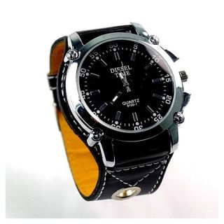 Armbanduhr schwarz Analog Watch Herren Damen Uhr Men Model Diesel TIME