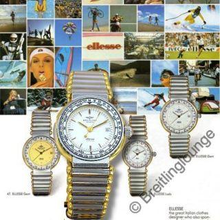 Breitling Ellesse Lady elegante Damen Armbanduhr in Stahl Gold