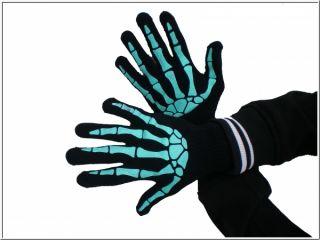 Skelett Handschuhe Underground Emo Gothic Punk Rock