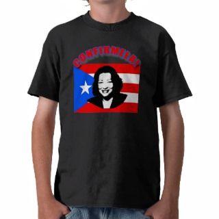 CONFIRMELA Con Bandera de Puerto Rico T Shirts
