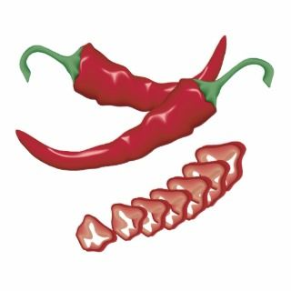 realistic red hot chili peppers graphic food desig acrylic cut outs