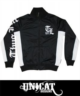 Thug Life Track Jacket 187 Old English schwarz TLF12TJ01 100