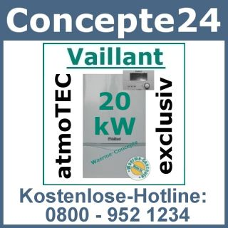 Vaillant atmoTEC exclusiv VC 204/4 7 20 kW 350 Gas Heizung Gastherme